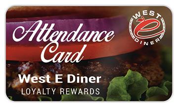 Loyalty Card - West E Diner - West Elizabeth